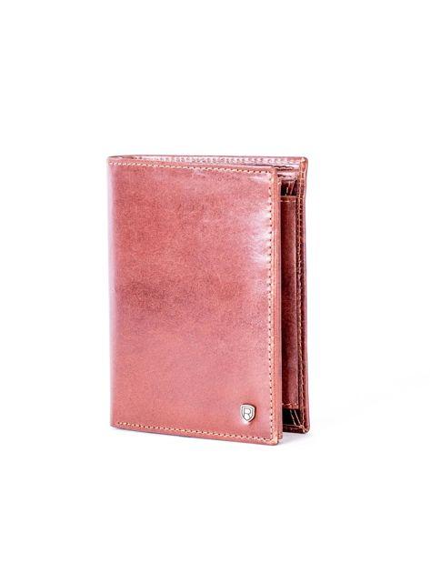 Brązowy skórzany portfel                               zdj.                              3