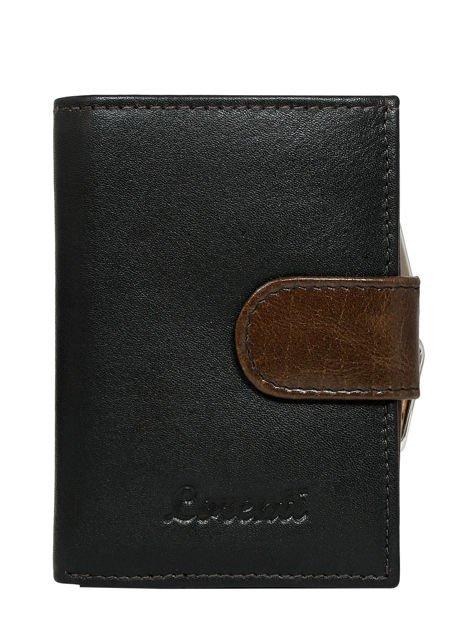 Brązowy skórzany portfel damski na bigiel i napę