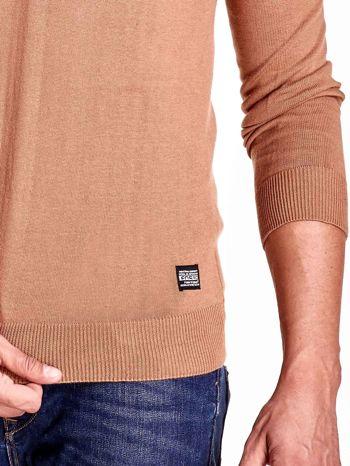 Brązowy sweter męski z guzikami FUNK N SOUL                                  zdj.                                  7