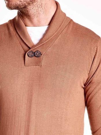 Brązowy sweter męski z guzikami FUNK N SOUL                                  zdj.                                  6