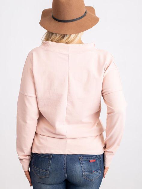 Brudnoróżowa bluzka plus size Khloe                              zdj.                              2