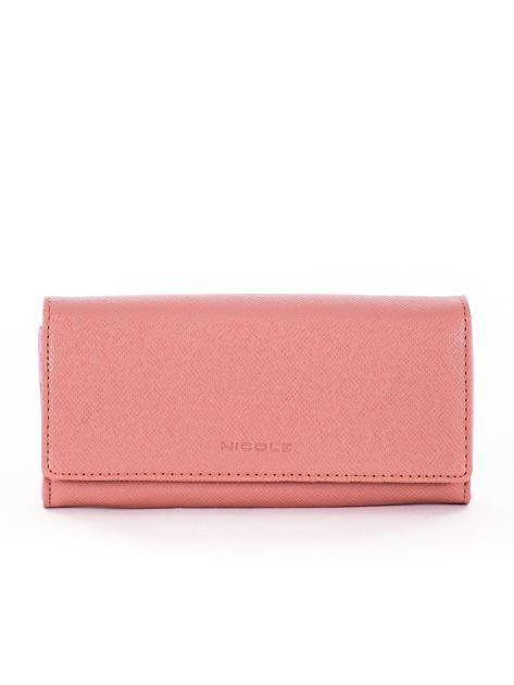 Brudnoróżowy damski portfel