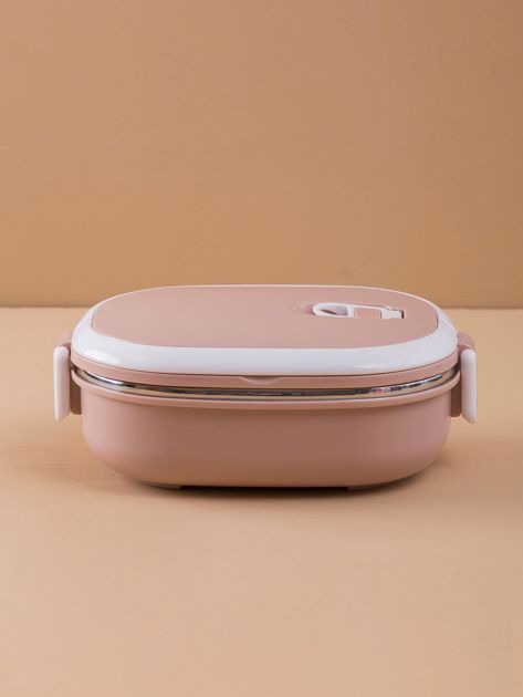 Brudnoróżowy lunchbox