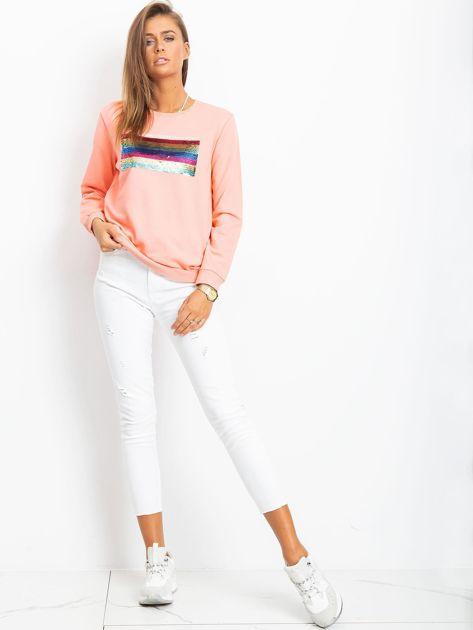 Brzoskwiniowa bluza Cody                              zdj.                              4