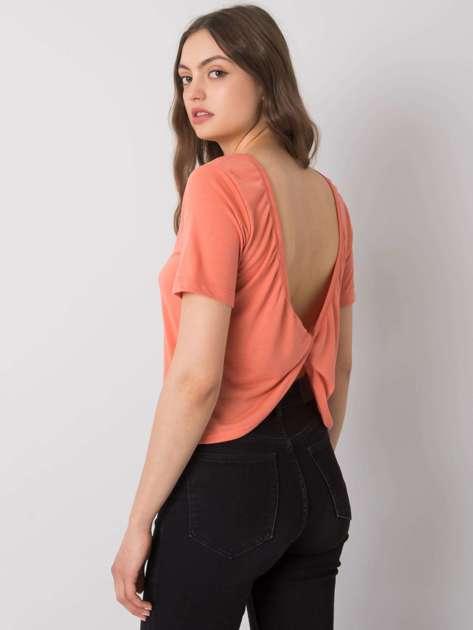 Brzoskwiniowa bluzka na co dzień Giselle RUE PARIS