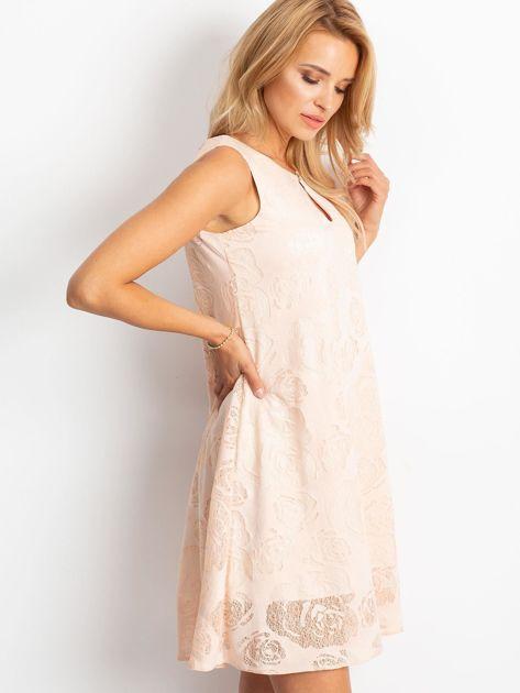 Brzoskwiniowa sukienka Free                              zdj.                              3