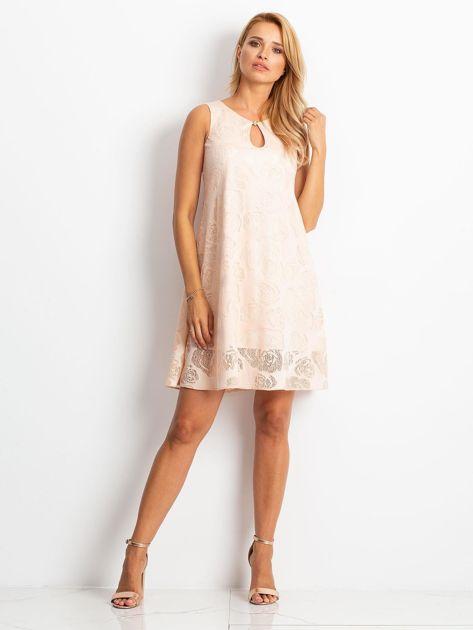 Brzoskwiniowa sukienka Free                              zdj.                              4