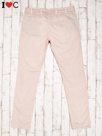 Brzoskwiniowe spodnie męskie                                   zdj.                                  2