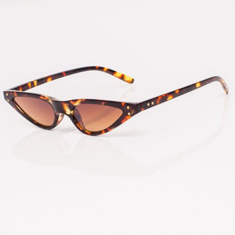 CAT EYE Brązowe damskie okulary przeciwsłoneczne KOCIE OCZY                              zdj.                              3
