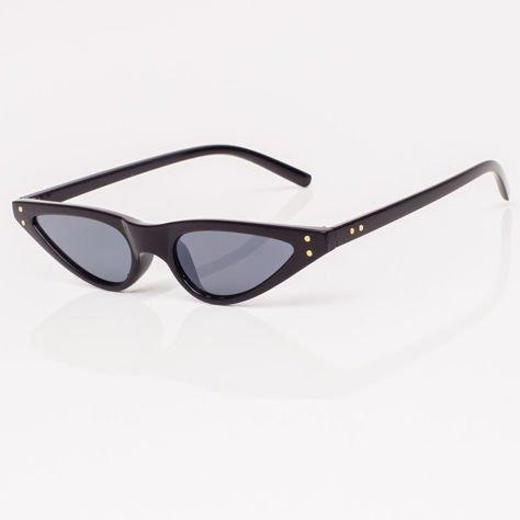 CAT EYE Czarne damskie okulary przeciwsłoneczne KOCIE OCZY                              zdj.                              4