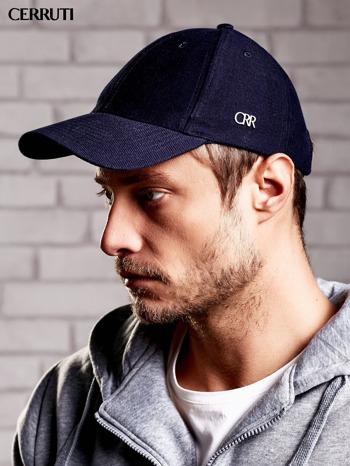 CERRUTI Granatowa czapka z daszkiem męska                                  zdj.                                  2