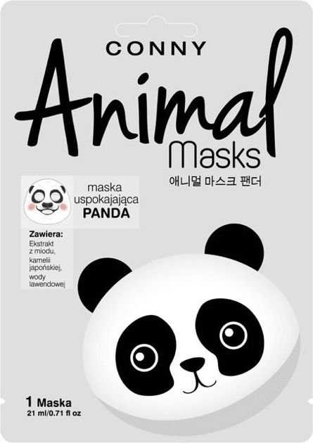 CONNY Animal Mask PANDA uspokajająca w płachcie                              zdj.                              1