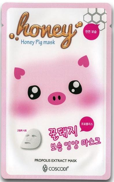 COSCODI Koreańska maseczka na tkaninie z ekstraktem z propolisu MIÓD                              zdj.                              1