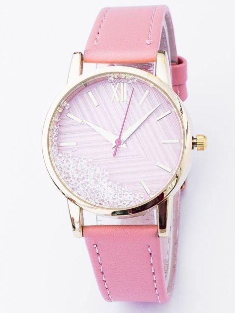 CRYSTAL Zegarek damski z kryształkami na tarczy