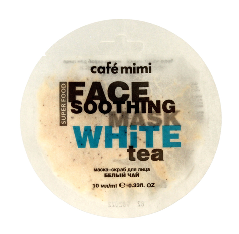 "Cafe Mimi Face Soothing Maseczka - scrub do twarzy Biała Herbata & Lotos  10ml"""