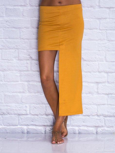 Camelowa asymetryczna spódnica                                  zdj.                                  1