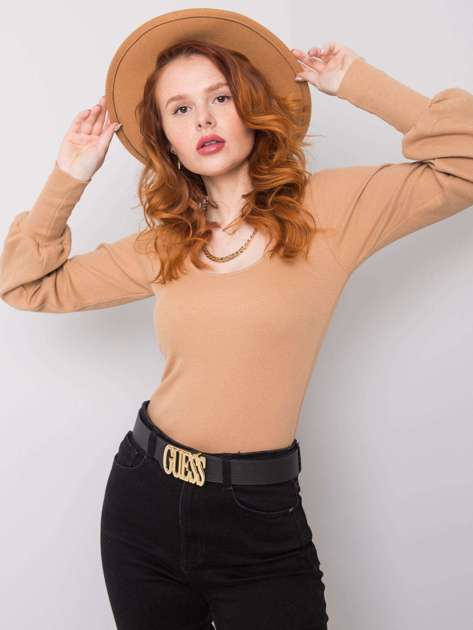 Camelowa bluzka na co dzień Elsie RUE PARIS