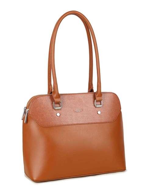 Camelowa damska torba na ramię LUIGISANTO
