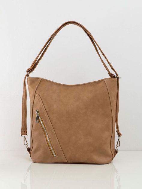 Camelowa damska torba z ekoskóry