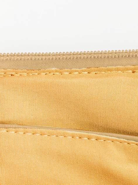 Camelowa kopertówka z dżetami motyw apple                                  zdj.                                  7