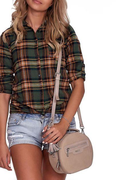Camelowa torebka kuferek z chwostem                              zdj.                              8