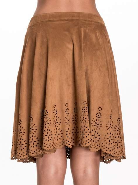 Camelowa zamszowa spódnica w stylu boho                                  zdj.                                  6