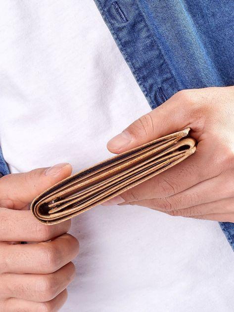 Camelowy portfel męski ze skóry naturalnej                              zdj.                              7