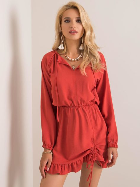 Ceglasta sukienka Dreaming RUE PARIS