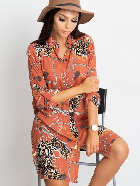 Ceglasta sukienka Gracia                              zdj.                              1