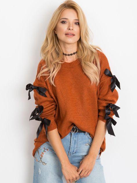 Ceglasty sweter Montana                              zdj.                              4