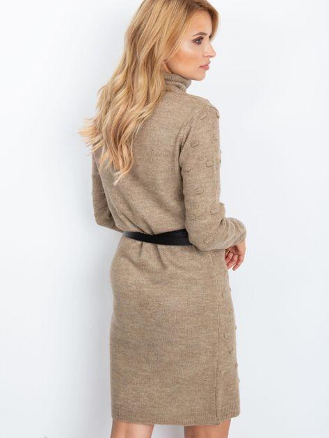 Ciemnobeżowa sukienka Silky                              zdj.                              2