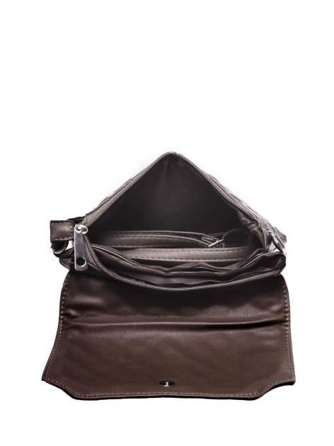 Ciemnobrązowa pikowana torba typu listonoszka                                  zdj.                                  3