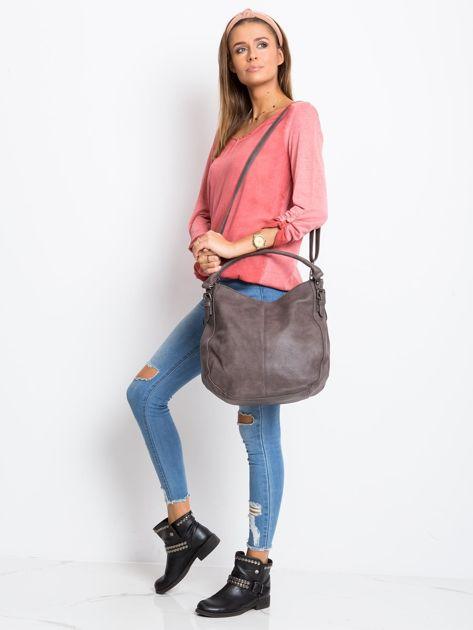 Ciemnobrązowa torba damska na ramię                              zdj.                              5