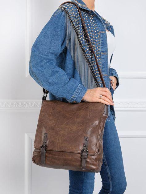 Ciemnobrązowa torba na ramię
