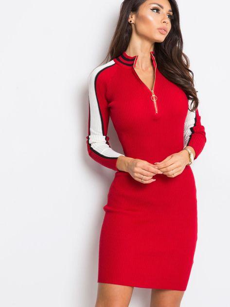 Ciemnoczerwona sukienka Jenna                              zdj.                              5