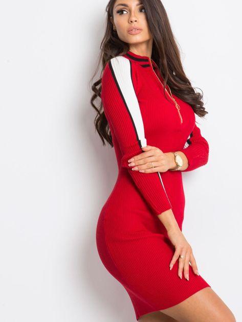 Ciemnoczerwona sukienka Jenna                              zdj.                              6