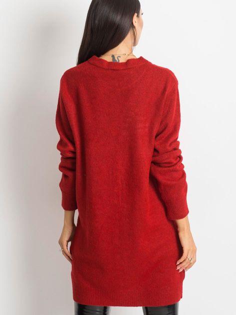 Ciemnoczerwony sweter Moment                              zdj.                              2