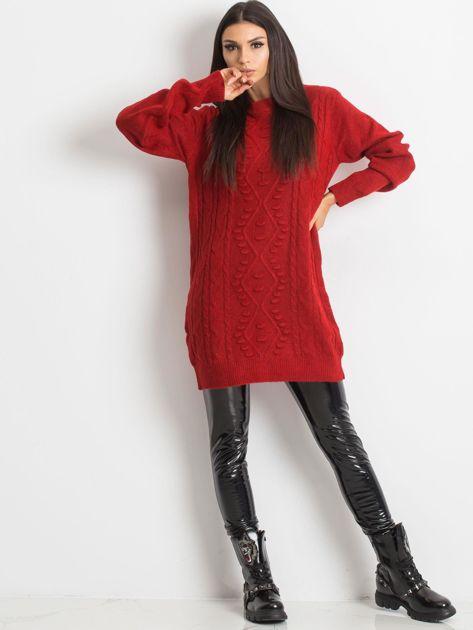 Ciemnoczerwony sweter Moment                              zdj.                              4