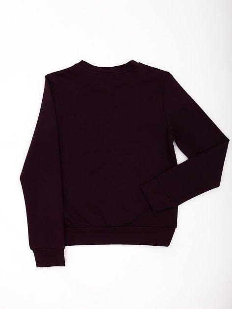 Ciemnofioletowa bluza młodzieżowa                              zdj.                              2