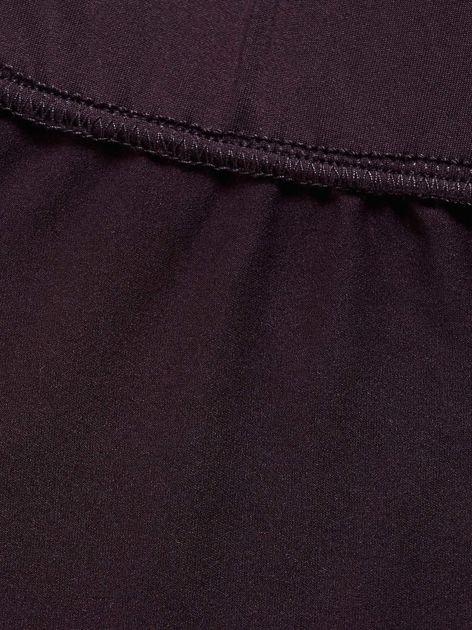 Ciemnofioletowe długie cienkie legginsy do biegania                              zdj.                              6