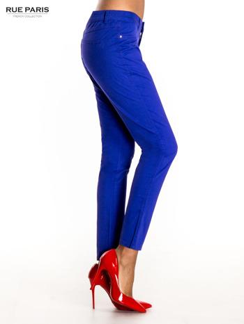 Ciemnofioletowe spodnie materiałowe w stylu chinos                                  zdj.                                  3