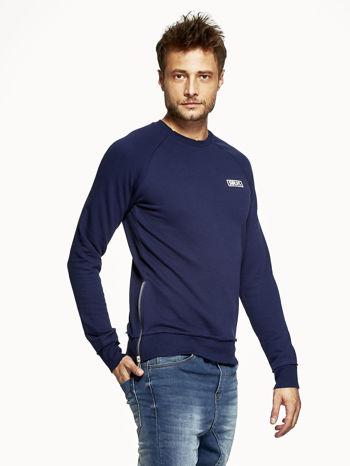 Ciemnoniebieska bluza męska z suwakami                              zdj.                              3