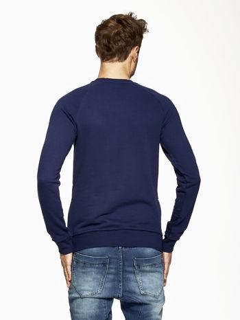 Ciemnoniebieska bluza męska z suwakami                                  zdj.                                  4