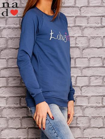 Ciemnoniebieska bluza z napisem ŁOBUZIARA                                  zdj.                                  3