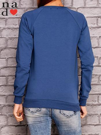 Ciemnoniebieska bluza z napisem ŁOBUZIARA                                  zdj.                                  4