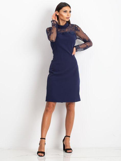 Ciemnoniebieska sukienka Time                              zdj.                              4