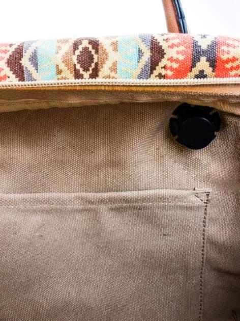 Ciemnoniebieska torba gumowa z motywem azteckim                                  zdj.                                  8