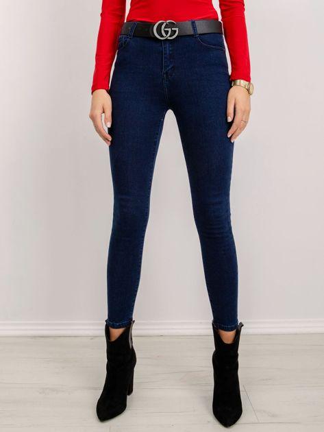Ciemnoniebieskie jeansy Libbie
