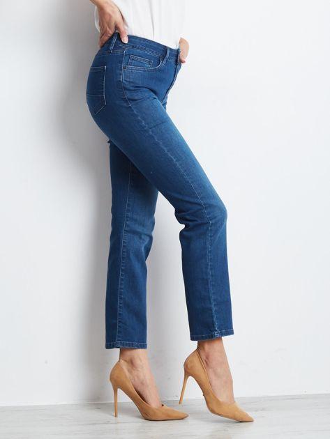 Ciemnoniebieskie jeansy Straight                              zdj.                              3