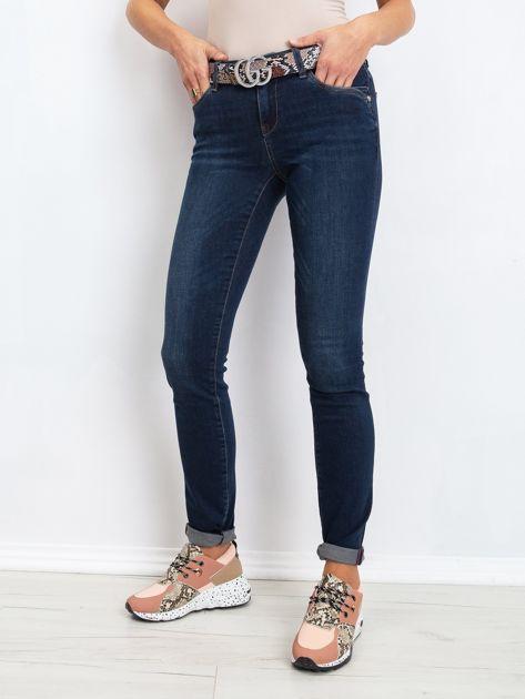 Ciemnoniebieskie jeansy Treat                              zdj.                              1